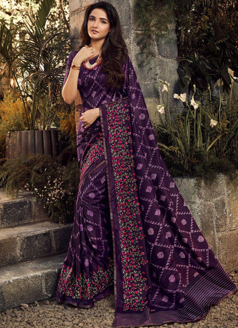 Embroidered Festival Designer Traditional Saree