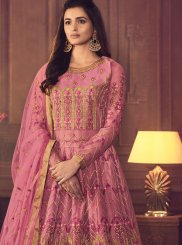 Embroidered Floor Length Anarkali Suit