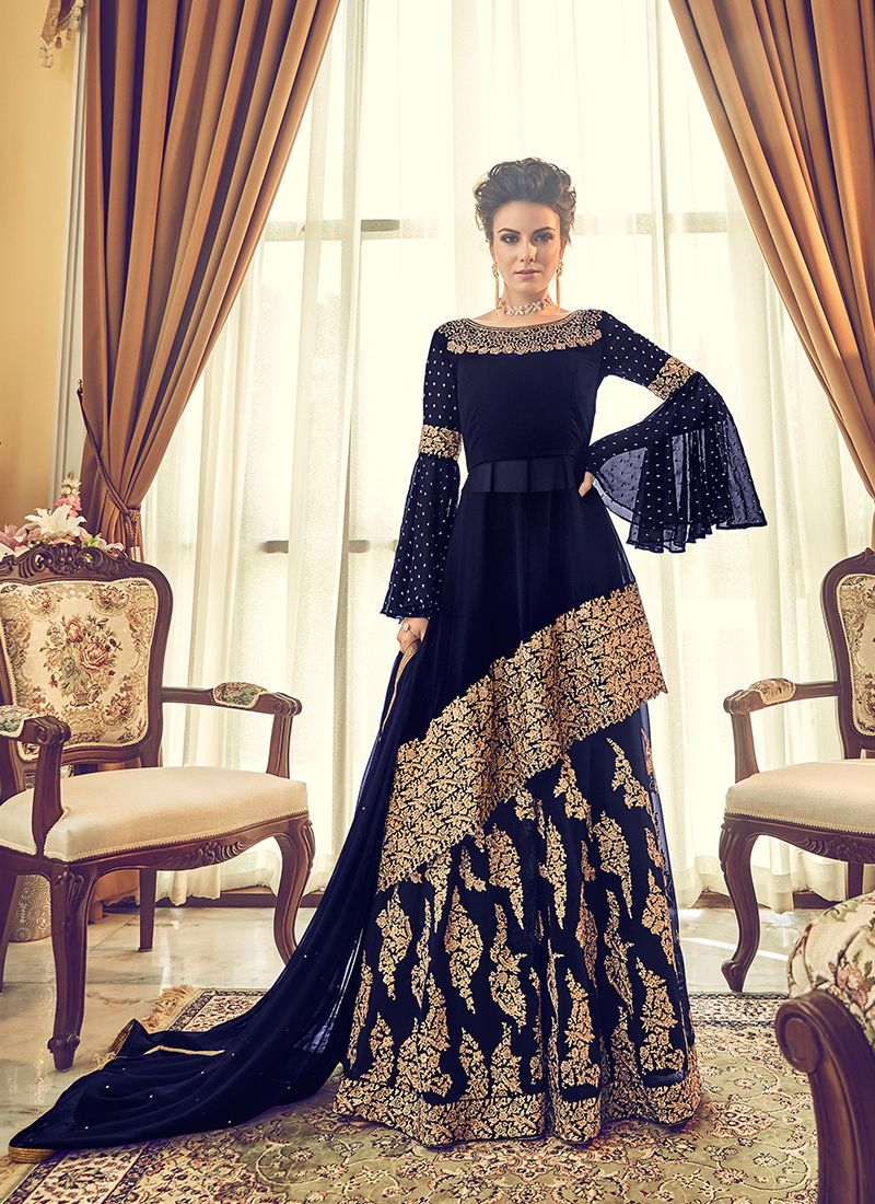 Embroidered Georgette Designer Lehenga Choli
