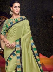 Embroidered Green Art Silk Traditional Saree