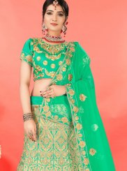Embroidered Green Designer Lehenga Choli