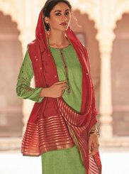Embroidered Green Designer Pakistani Suit