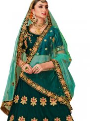 Embroidered Green Trendy Lehenga Choli