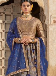 Embroidered Grey Trendy Designer Lehenga Choli