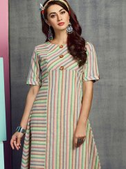 Embroidered Handloom Cotton Party Wear Kurti