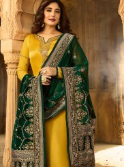 Embroidered Kritika Kamra Georgette Satin Churidar Designer Suit