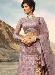 Embroidered Lavender Trendy A Line Lehenga Choli