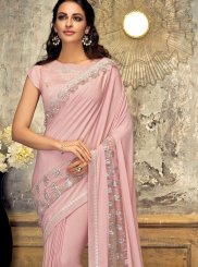 Embroidered Lycra Designer Saree