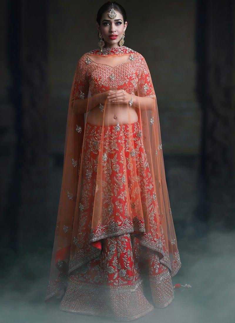 Embroidered Malbari Silk  Designer Lehenga Choli