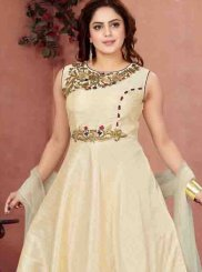 Embroidered Malbari Silk  Readymade Anarkali Salwar Suit