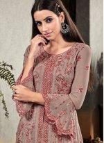 Embroidered Mehndi Designer Palazzo Salwar Suit