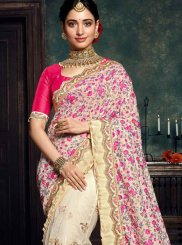 Embroidered Mehndi Designer Saree