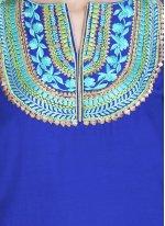 Embroidered Mehndi Readymade Salwar Kameez