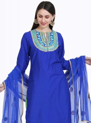 Embroidered Mehndi Readymade Salwar Kameez