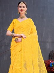 Embroidered Mehndi Traditional Saree