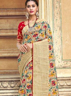 Embroidered Multi Colour Designer Traditional Saree