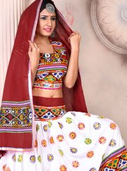 Embroidered Multi Colour Rayon Lehenga Choli