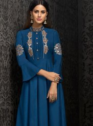 Embroidered Muslin Party Wear Kurti