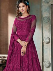 Embroidered Net Anarkali Salwar Kameez