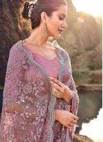Embroidered Net Classic Designer Saree