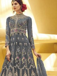 Embroidered Net Designer Gown
