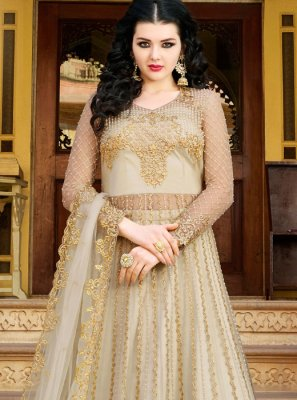 Embroidered Net Long Choli Lehenga