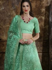 Embroidered Organza Lehenga Choli