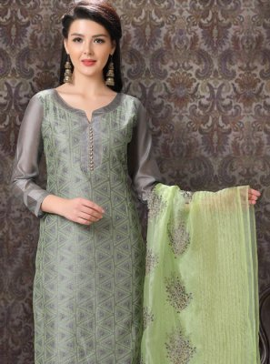 Embroidered Party Churidar Salwar Kameez