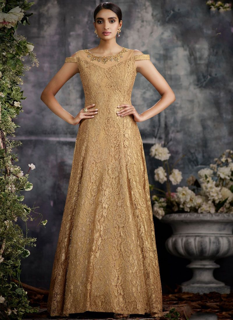 Embroidered Party Designer Gown