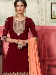 Embroidered Party Designer Palazzo Salwar Kameez