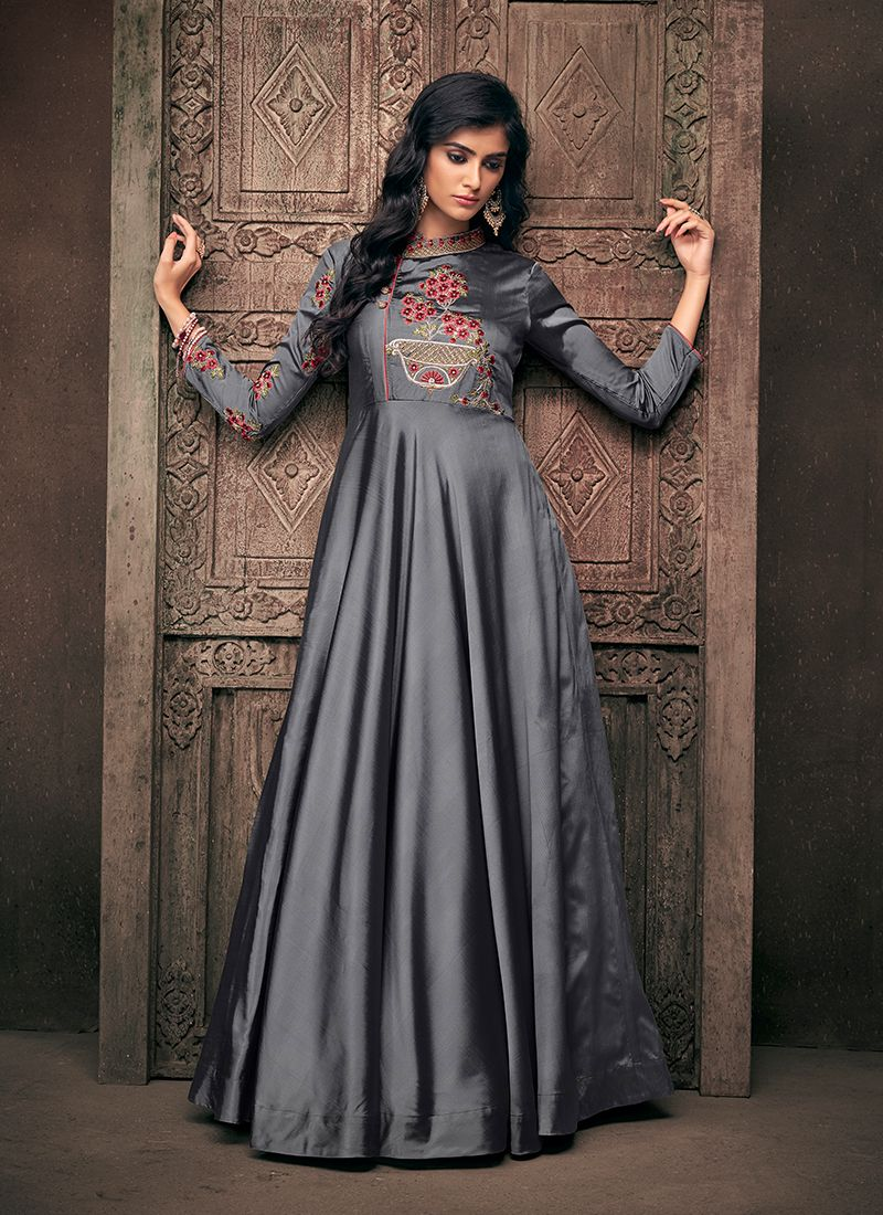 Embroidered Party Readymade Designer Gown