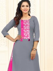 Embroidered Party Trendy Churidar Salwar Kameez