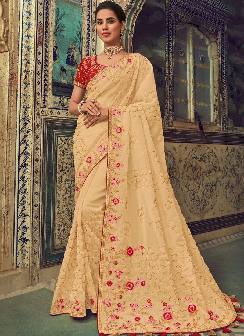 Embroidered Party Trendy Saree