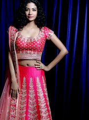 Embroidered Pink Malbari Silk  Designer Lehenga Choli