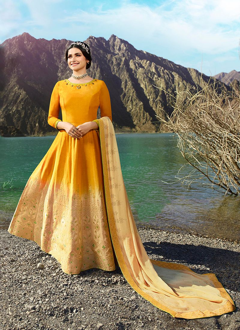 Embroidered Prachi Desai Floor Length Anarkali Suit