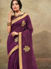 Embroidered Purple Trendy Saree