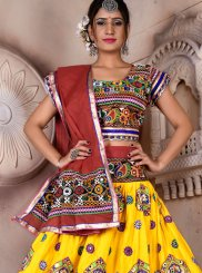 Embroidered Rayon Multi Colour Lehenga Choli