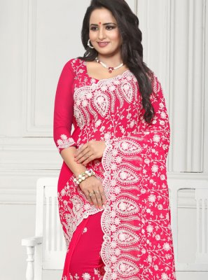 Embroidered Reception Casual Saree