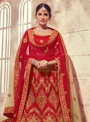 Embroidered Red Designer Lehenga Choli