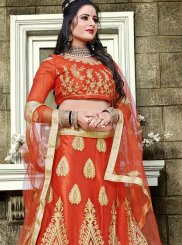 Embroidered Red Lehenga Choli