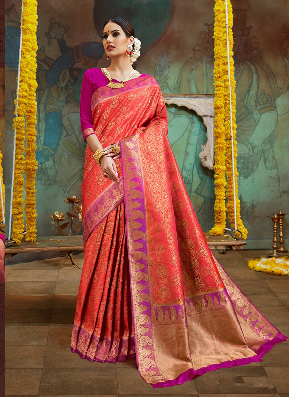 Embroidered Sangeet Classic Designer Saree