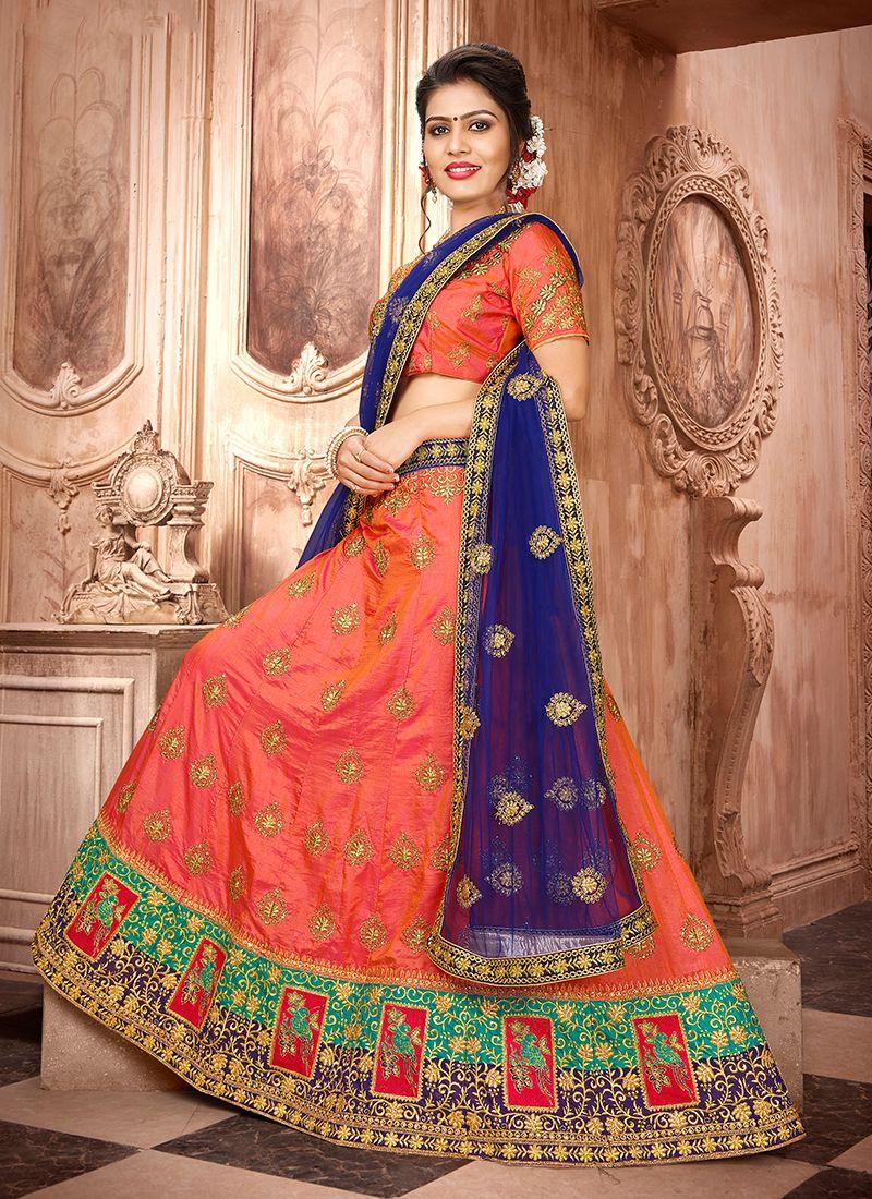 Embroidered Sangeet Trendy Lehenga Choli