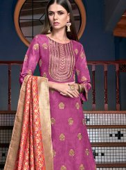Embroidered Satin Designer Palazzo Suit