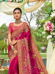 Embroidered Satin Silk Classic Saree