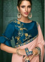 Embroidered Satin Silk Designer Traditional Saree