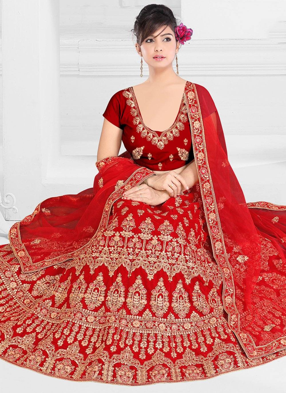 Embroidered Satin Silk Trendy Designer Lehenga Choli