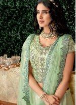 Embroidered Sea Green Lehenga Choli