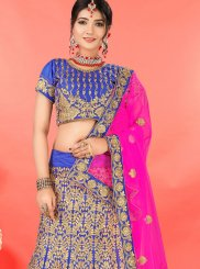 Embroidered Silk Designer Lehenga Choli in Blue