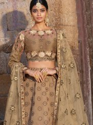 Embroidered Silk Trendy A Line Lehenga Choli