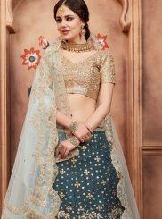 Embroidered Teal Lehenga Choli